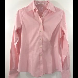 Brooks Brothers Women's Pink Button Down Shirt 4